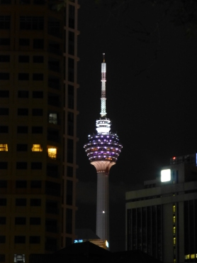 KL Tower at night