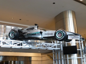 Formula One race car sponsored by Petronas