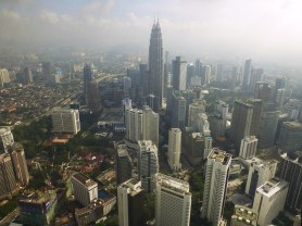 Petronas Towers from KL Tower