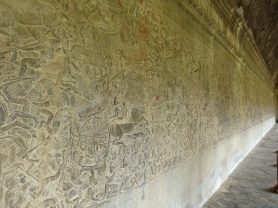 Wall of carvings
