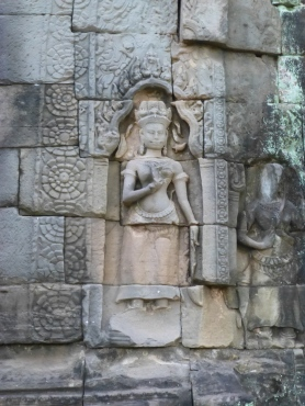Devata carved into entrance