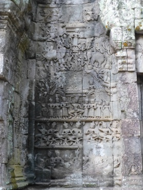Carvings of Asparas and Elephant