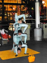 Talented young contortionists