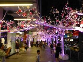 More lights over the sidewalk