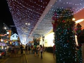 Lights over the sidewalk