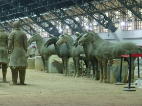 Reconstructed horses awaiting placement