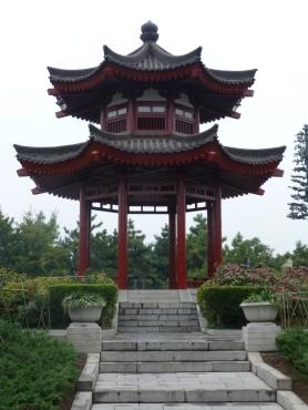 Pagoda in side garden
