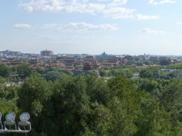 View of Forbidden City from White Pagoda