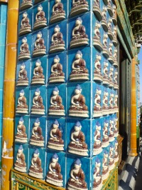 Ceramic tiles with Buddha images