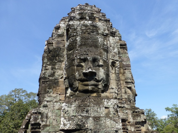 Stone face at Bayon
