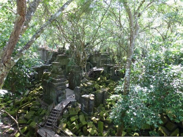 Walkways through the ruins