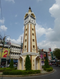 Clock tower at Nonthaburi pier