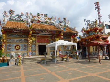 Chinese temple on river in Nonthaburi
