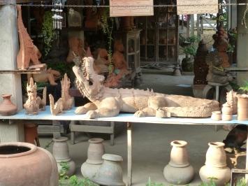 Terracotta crocodile