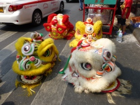 Heads for Lion Dancers