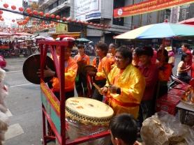 Musicians accompanying Lion Dancers
