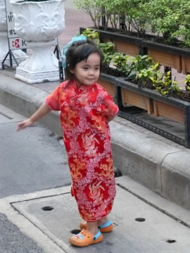 Little girl celebrating the Year of the Snake