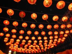 Red lanterns over Yaowarat Road