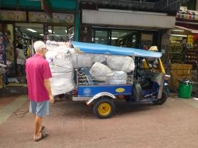 Loaded Tuk-Tuk in Chinatown