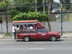 Song Thaew with about 12 passengers on Sathorn