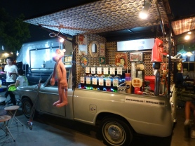 Pickup truck as soda fountain
