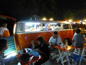 VW bus as mobile bar