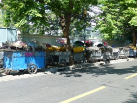 Peddlers carts stored on Convent