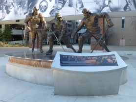Monument to the French Connection outside First Niagara Center