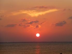 Sunset over Nichupte  Lagoon
