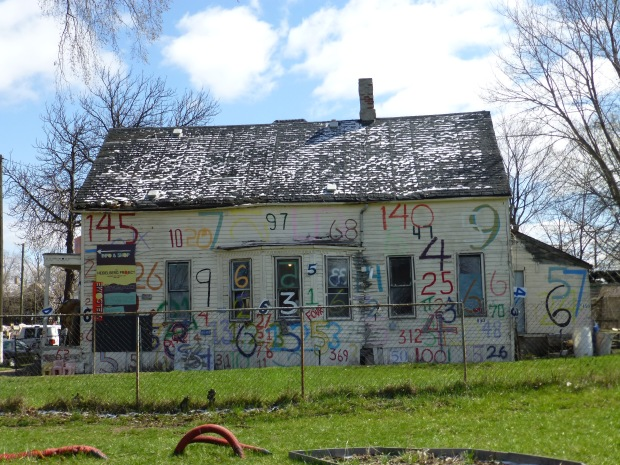 Numbers House  in Heidelberg Project