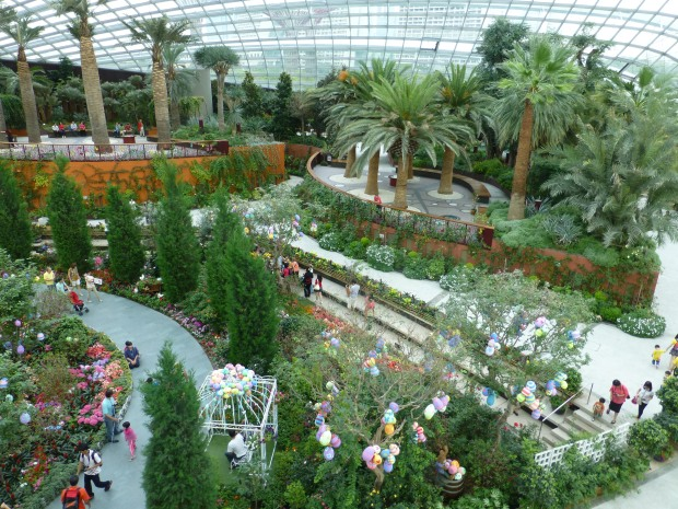 The Flower Dome on Palm Sunday