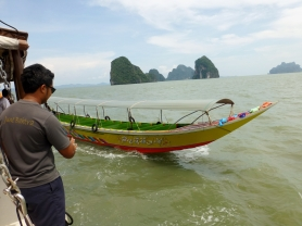 The sea taxi to Ko Panyi