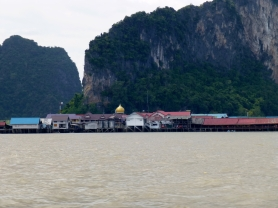 Mosque on Ko Panyi from Phang Nga Bay