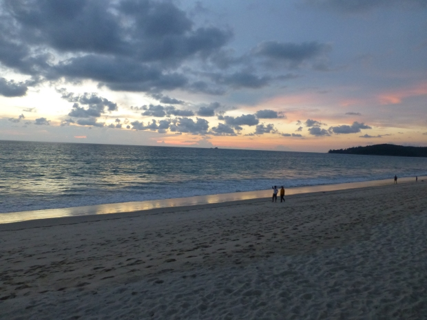Phuket beach as sunsets on Andaman Sea