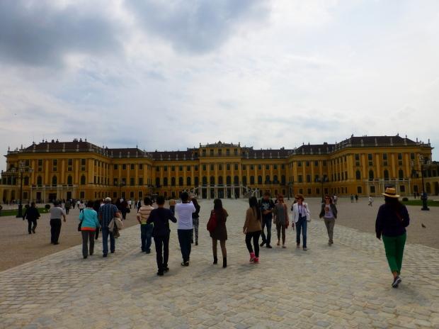 Front view of Schönbrunn Palace, Vienna