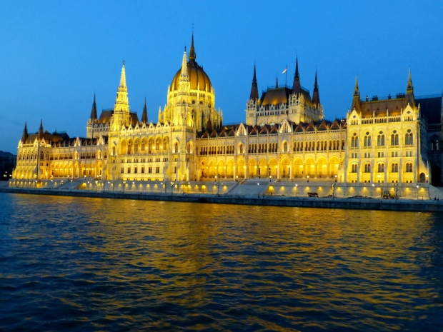 Hungarian Parliament Building from the Danube