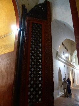 Large teak door