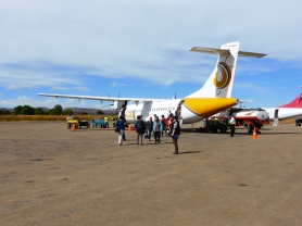 Golden Air Myanmar plane at He Ho